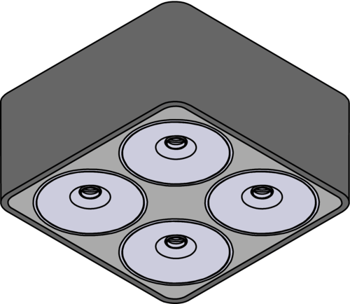Isometrie - Q Four Aufbau 80°