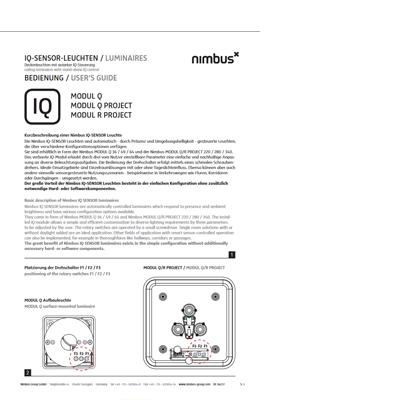 Bedienungsanleitung IQ Sensor